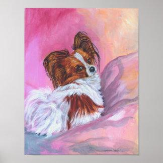 Papillon Dog art Wall Print