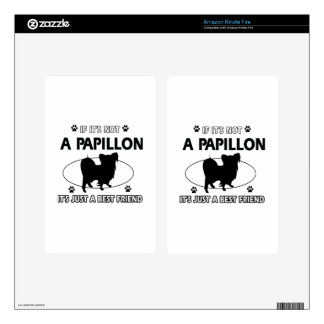 Papillon dog breed designs kindle fire skins
