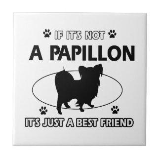 Papillon dog breed designs tile