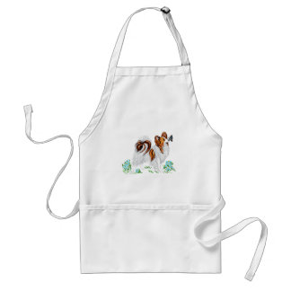 Papillon Dog & Butterfly Eye to Eye Adult Apron