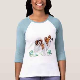 Papillon Dog & Butterfly Eye to Eye Tshirts