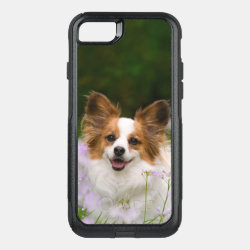 Papillon Dog Cute Romantic Pet Photo Animal - on OtterBox Commuter iPhone 8/7 Case