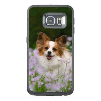 Papillon Dog Cute Romantic Photo -- protect OtterBox Samsung Galaxy S6 Edge Case