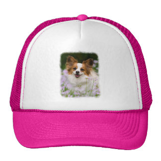 Papillon Dog Cute Romantic Portrait Photo - cap