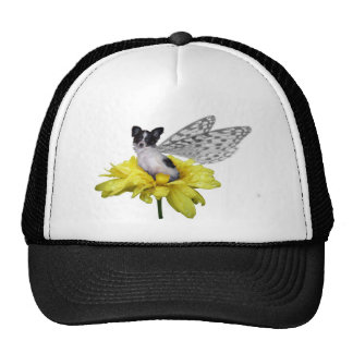 Papillon Dog Fairy Ballpark Cap Trucker Hat