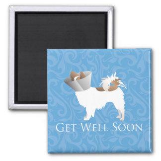 Papillon Dog Get Well Soon Design Magnet