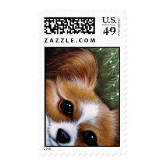 PAPILLON DOG HOLIDAY Postage