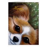 PAPILLON DOG HOLIDAYS Card