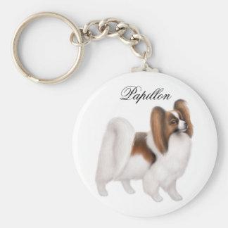 Papillon Dog Keychain