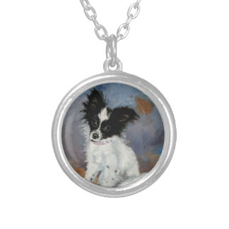 Papillon Dog Portrait Necklaces