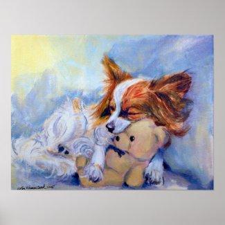 Papillon Dog Poster PRINT