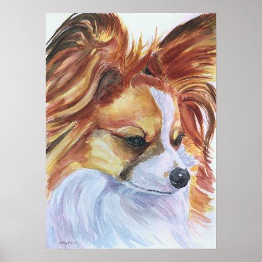 Papillon Dog Print