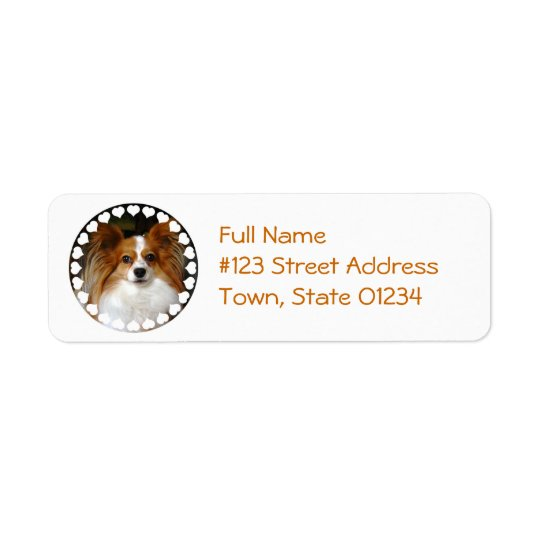 Papillon Dog Return Address Label