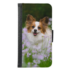 Galaxy S6 Wallet Case with Papillon Phone Cases design