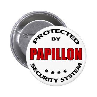Papillon Dog Security Pinback Button