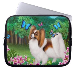 Papillon Dog with Butterflies Laptop Computer  Sle Laptop Sleeve