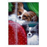 PAPILLON DOGS HOLIDAY Card