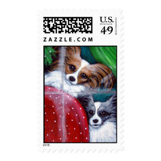 PAPILLON DOGS HOLIDAY Postage