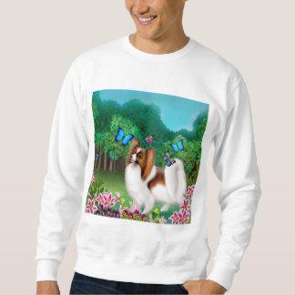 Papillon en camiseta del jardín