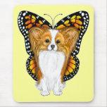 Papillon en disfraz alfombrilla de raton