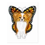 Papillon en disfraz postal