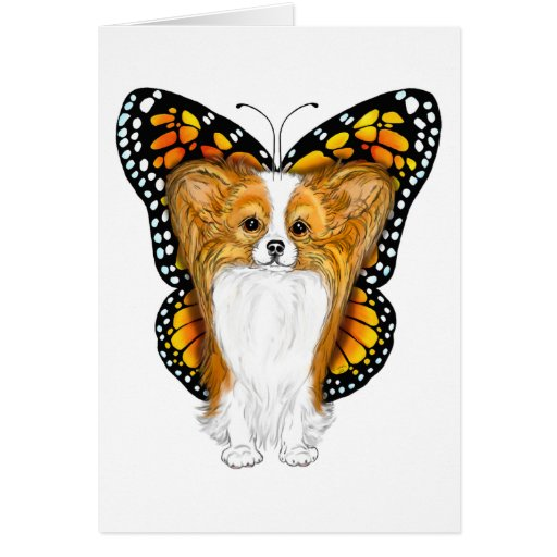 Papillon en disfraz tarjetón