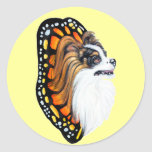 Papillon Fantasy Wings Round Stickers