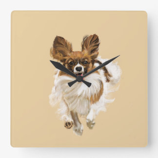 Papillon - finally, You Are Home Square Wall Clock