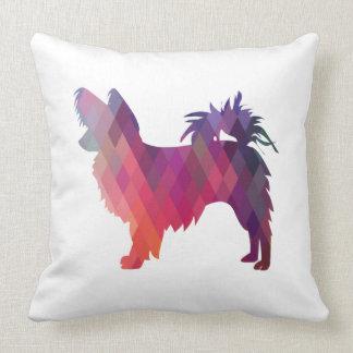 Papillon Geometric Pattern Modern Silhouette Throw Pillow