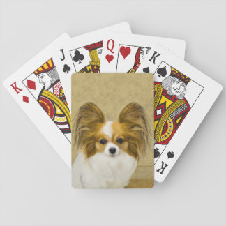 Papillon (Hound Tri Color) Playing Cards