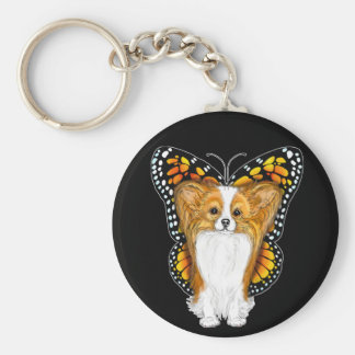 Papillon in Disguise Basic Round Button Keychain