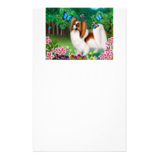 Papillon in Garden Stationery