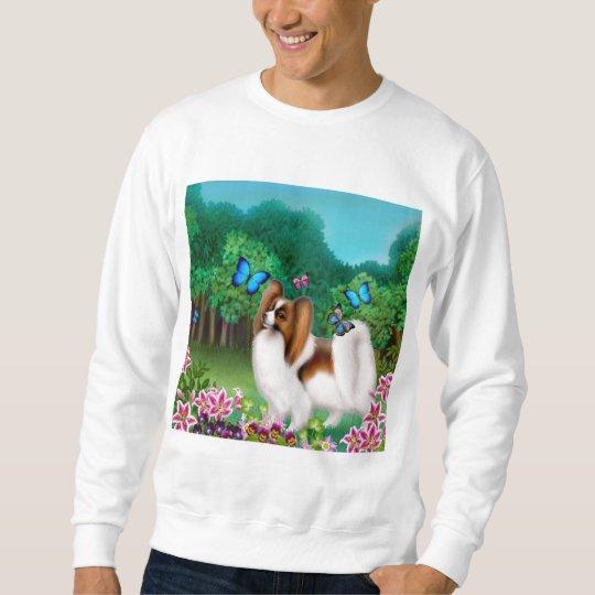 Papillon in Garden Sweatshirt