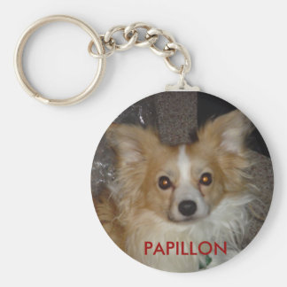 papillon key chain