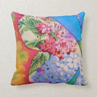 """Papillon Left"" Throw Pillow by Susi Franco"