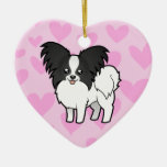 Papillon Love (add your own message) Ornament