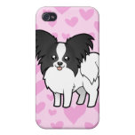 Papillon Love (add your own pern) Covers For iPhone 4