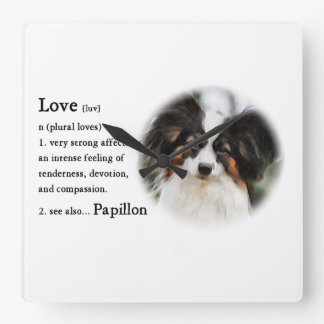 Papillon Love Gifts Square Wall Clock