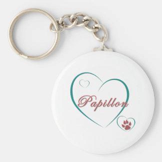 Papillon Love Keychain