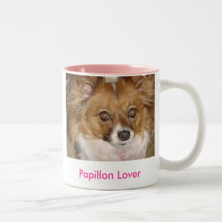 Papillon Lover - Customized Two-Tone Coffee Mug