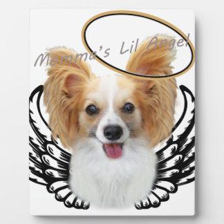 "Papillon ""Momma's Lil Angel"" Plaque"