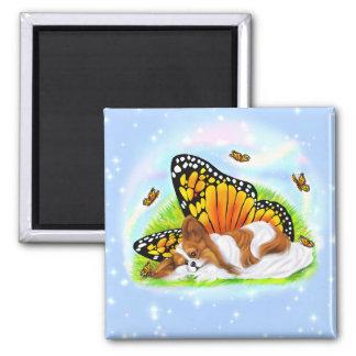 Papillon Mystical Monarch 2 Inch Square Magnet
