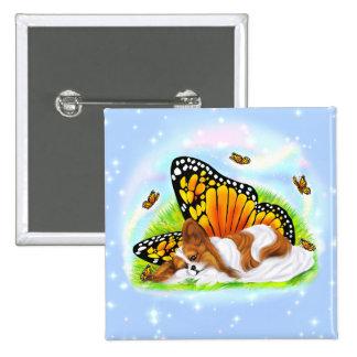 Papillon Mystical Monarch Pinback Buttons
