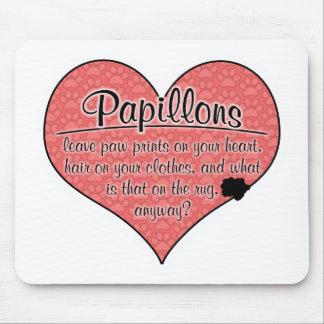 Papillon Paw Prints Dog Humor Mouse Pad