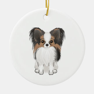 Papillon (picture) ceramic ornament