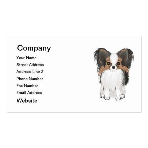 Papillon (picture) Double-Sided standard business cards (Pack of 100)