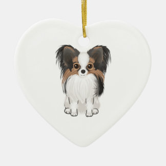 Papillon (picture) christmas tree ornaments