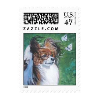 papillon postage stamp