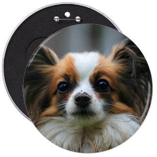 Papillon Puppy Dog Button