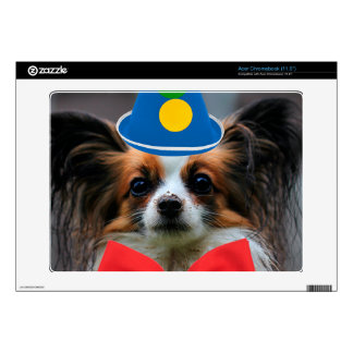 Papillon Puppy Dressed as a Clown Acer Chromebook Decals